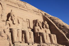 Abu Simbel temple, unesco world heritage in Egypt Stock Images
