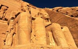 Abu Simbel Temple van Koning Ramses II Stock Afbeeldingen