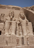 Abu Simbel temples. The Abu Simbel temples temples in Abu Simbel in Nubia, southern Egypt Stock Photo
