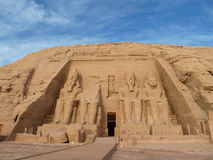 Abu Simbel temples. The Abu Simbel temples are two massive rock temples in Abu Simbel in Nubia, southern Egypt. The complex is part of the UNESCO World Heritage Royalty Free Stock Photography