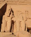 Abu Simbel Temples Aswan Egypt. Two massive rock temples a Abu Simbel stock image