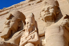 Abu Simbel Temples. Colossal statues at Abu Simbel Temples in Egypt stock image
