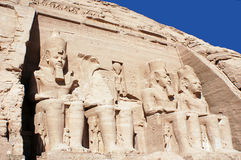 Abu Simbel temples. Are two massive rock temples, near the border with Sudan. The complex is part of the UNESCO World Heritage Site known as the `Nubian Stock Photography