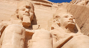 Abu Simbel temples. Are two massive rock temples, near the border with Sudan. The complex is part of the UNESCO World Heritage Site known as the `Nubian Royalty Free Stock Photography