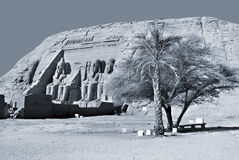 The Abu Simbel temples Royalty Free Stock Images