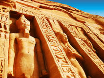 Abu Simbel - templo de Nefertari fotografía de archivo libre de regalías