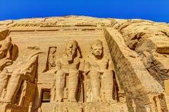 Abu Simbel vänstersidadel Fotografering för Bildbyråer