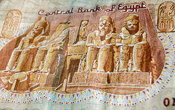 Abu Simble on Egyptian pound banknote Royalty Free Stock Photos