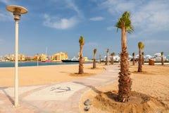 Abu Tig Marina. EL Gouna, Ägypten Stockfotografie