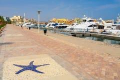 Abu Tig Marina. EL Gouna, Ägypten Lizenzfreies Stockfoto