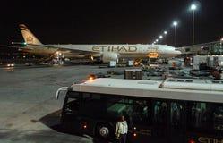 Abu-zabi Flughafen Stockfotos