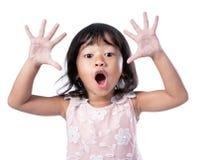 Abucheo de la ojeada a de la demostración del niño imagen de archivo