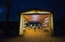 Entrance of a Desert Camp royalty free stock photos