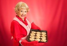Galletas de microprocesador de chocolate hechas en casa de las abuelas Foto de archivo libre de regalías