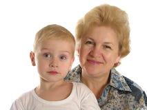 Abuela con el muchacho 3 Foto de archivo