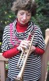 Abuela del jazz Foto de archivo libre de regalías