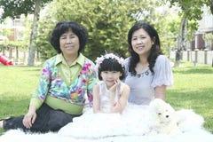 Abuela e hijas imagen de archivo libre de regalías