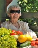 Abuela feliz Fotografía de archivo