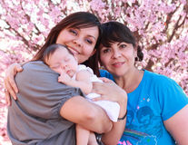 Abuela, hija y nieta Foto de archivo libre de regalías