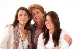 Abuela, madre e hija Imágenes de archivo libres de regalías