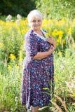 Abuela mayor al aire libre Foto de archivo