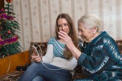 Abuela y granddaughte Fotografía de archivo libre de regalías
