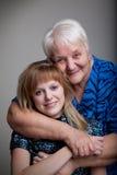 Abuela y nieta Fotos de archivo
