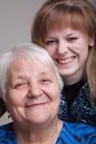 Abuela y nieta Imagenes de archivo