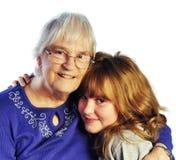 Abuela y nieto Imagen de archivo libre de regalías