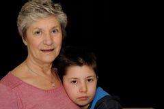 Abuela y nieto Imagenes de archivo