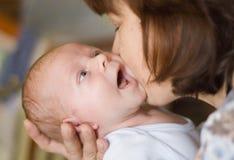 Abuela y nieto Fotografía de archivo libre de regalías