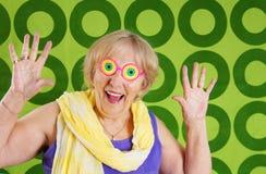 Abuelita divertida Imagen de archivo libre de regalías