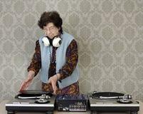 Abuelita DJ Foto de archivo