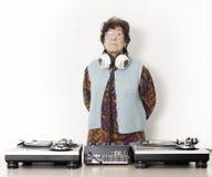Abuelita DJ Imagen de archivo