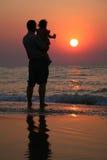 Abuelo con el niño Foto de archivo
