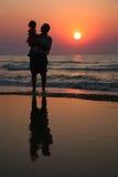 Abuelo con el niño Fotografía de archivo libre de regalías