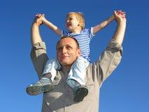 Abuelo con el nieto Fotografía de archivo
