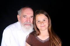 Abuelo con el nieto Foto de archivo