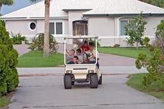 Abuelo con los grandkids Foto de archivo libre de regalías