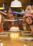 Abuelo del cumpleaños imagen de archivo libre de regalías