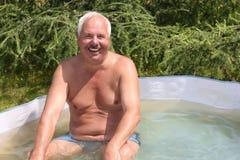 Abuelo feliz imagen de archivo libre de regalías