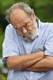 Abuelo masculino mayor obstinado fotos de archivo