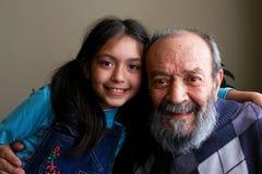 Abuelo y nieta Imágenes de archivo libres de regalías