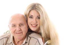 Abuelo y nieta Imagen de archivo libre de regalías