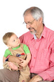 Abuelo y nieto Imagenes de archivo