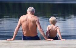 Abuelo y nieto Fotografía de archivo libre de regalías