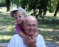 Abuelo y nieto Imagen de archivo libre de regalías