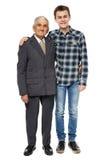 Abuelo y nieto felices Fotos de archivo libres de regalías