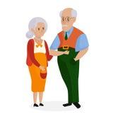 Abuelos felices juntos aislados Día de los abuelos Grandpa y abuela libre illustration