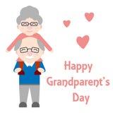 Abuelos felices Las personas mayores son juntas stock de ilustración